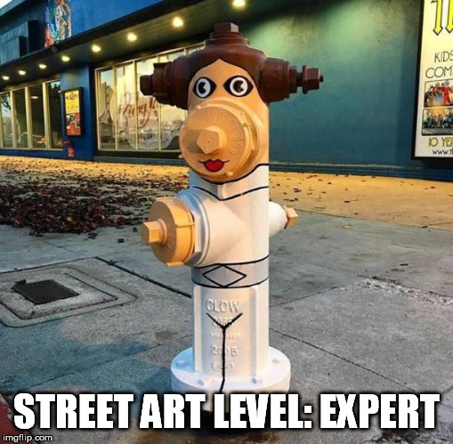 STREET ART LEVEL: EXPERT | image tagged in street art,level expert,princess leia,leia,star wars | made w/ Imgflip meme maker