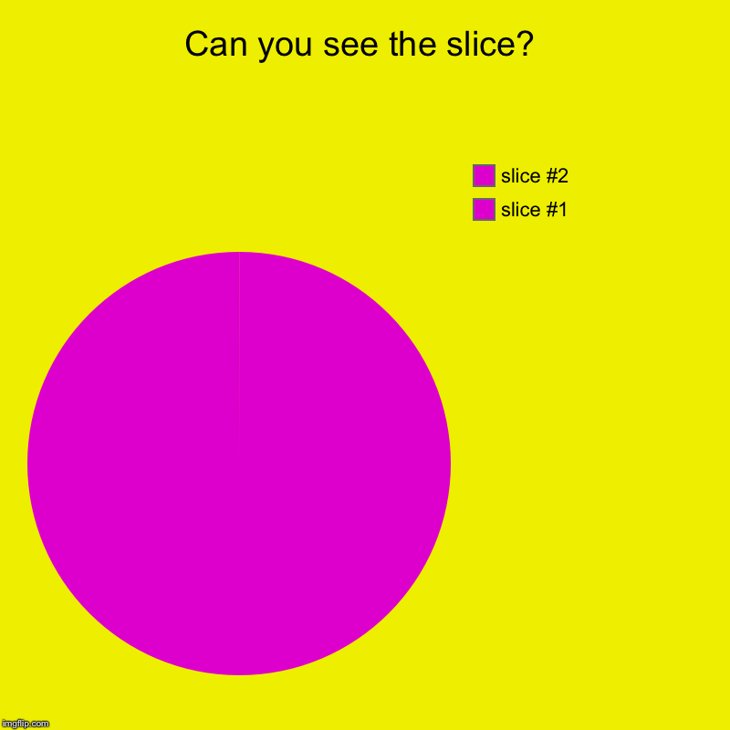 Can you see the slice? | | image tagged in charts,pie charts | made w/ Imgflip chart maker