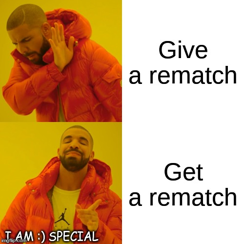 Smash Online In A Nutshell Part1 | Give a rematch Get a rematch I AM :) SPECIAL | image tagged in memes,drake hotline bling | made w/ Imgflip meme maker