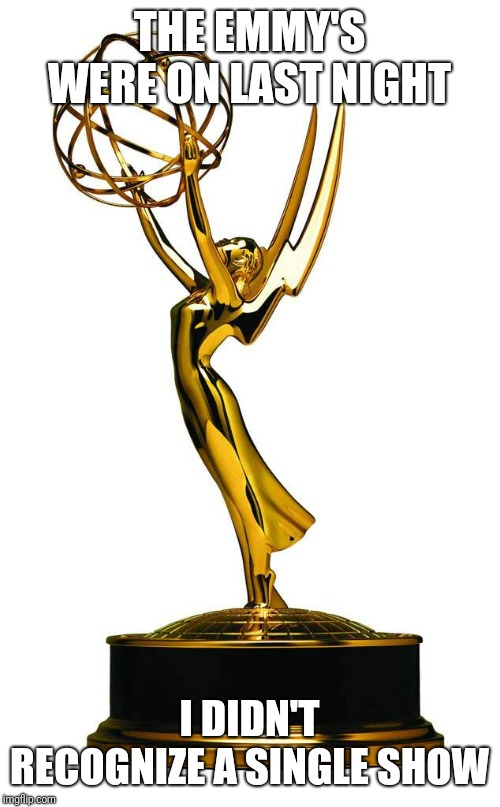 Ooooh, all that sjw back patting | THE EMMY'S WERE ON LAST NIGHT I DIDN'T RECOGNIZE A SINGLE SHOW | image tagged in funny memes,donald trump,sjws | made w/ Imgflip meme maker