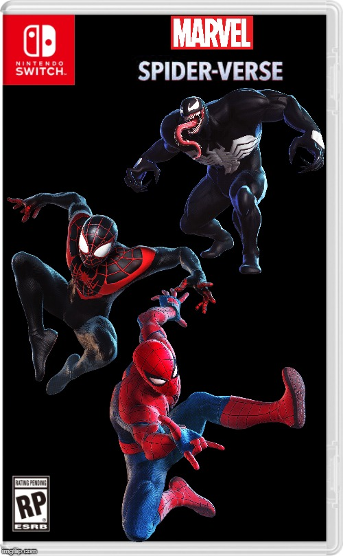 This would be a great switch game! | image tagged in nintendo switch cartridge case,spiderman,venom | made w/ Imgflip meme maker
