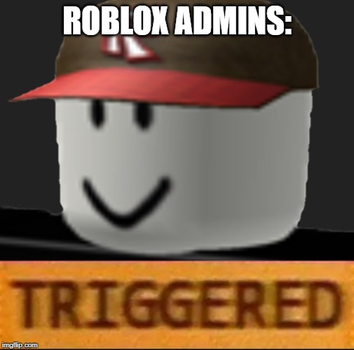 Roblox Triggered | ROBLOX ADMINS: | image tagged in roblox triggered | made w/ Imgflip meme maker