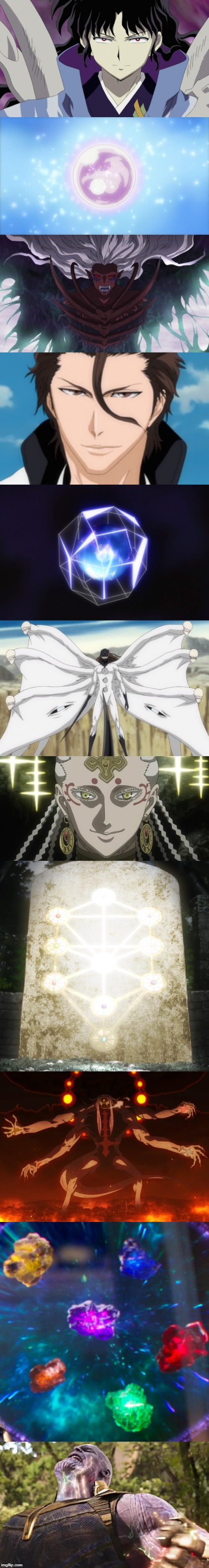 They say jewelry is a girl's best friend, well... | image tagged in anime,animeme,anime meme,inuyasha,bleach,thanos | made w/ Imgflip meme maker