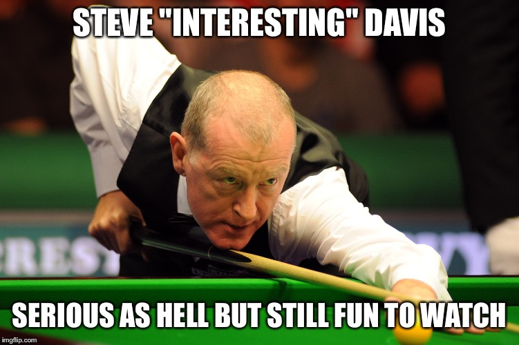 "still entertaining in spite of himself | STEVE ""INTERESTING"" DAVIS SERIOUS AS HELL BUT STILL FUN TO WATCH 