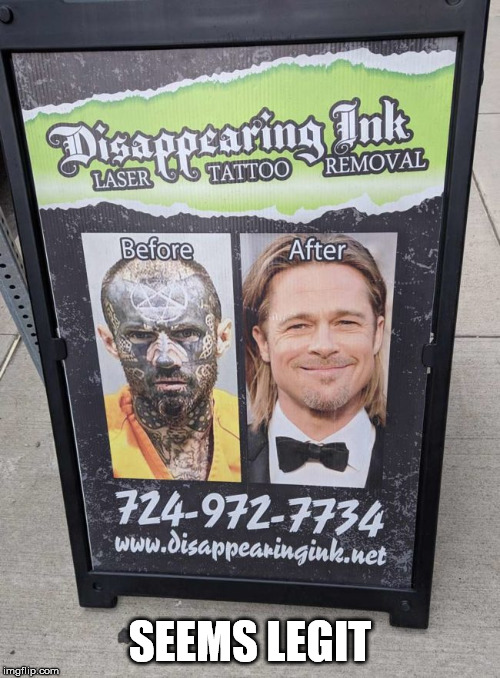 SEEMS LEGIT | image tagged in seems legit,tattoo face,tattoo | made w/ Imgflip meme maker