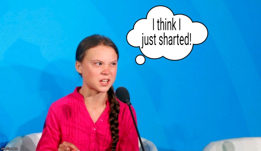 Sharted! | image tagged in shart,girl,red sweater,climate,change | made w/ Imgflip meme maker
