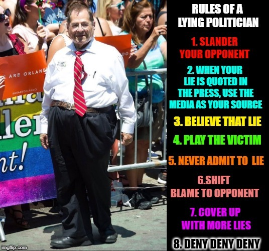 Sometimes, Evil comes Disguised in a Grandpa Suit | image tagged in vince vance,jerry nadler,lying politician,evil politician,the devil,filthy scum | made w/ Imgflip meme maker