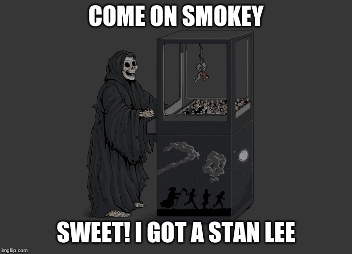 Angel of Death | COME ON SMOKEY SWEET! I GOT A STAN LEE | image tagged in angel of death | made w/ Imgflip meme maker