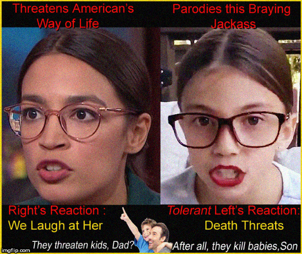 Ooh they are being mean to our global Idiot Greta....Yea? tell me about it | image tagged in greta thunberg,mini aoc,alexandria ocasio-cortez,liberal death  threats,lol,political meme | made w/ Imgflip meme maker
