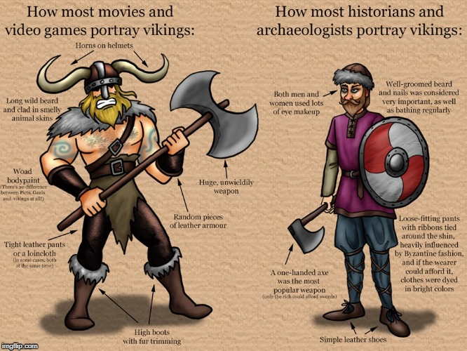 Historically inaccurate vs. Historically accurate viking. | image tagged in vikings,history,historical meme,history channel | made w/ Imgflip meme maker