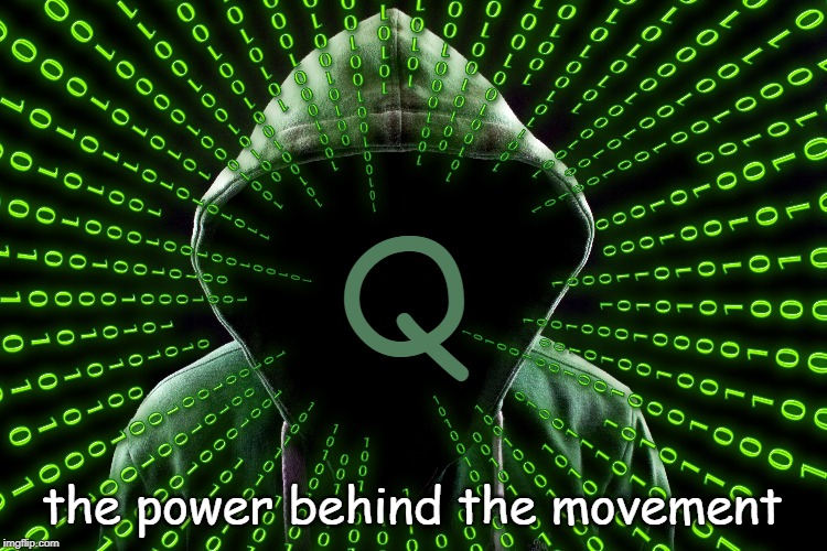 Q | Q the power behind the movement | image tagged in the great awakening,q,patriots | made w/ Imgflip meme maker