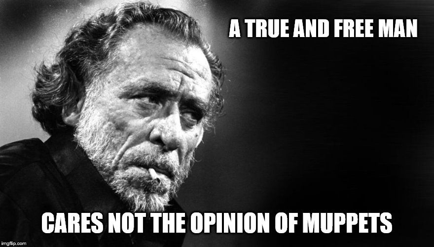 A TRUE AND FREE MAN CARES NOT THE OPINION OF MUPPETS | made w/ Imgflip meme maker