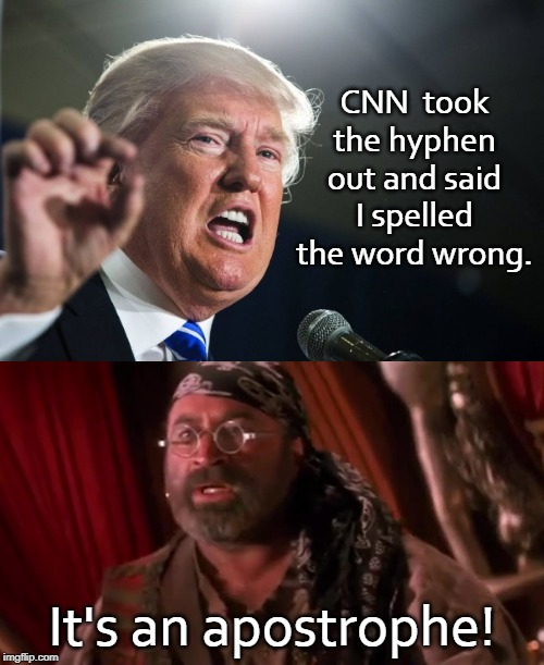 """I just had an apostrophe!"" 