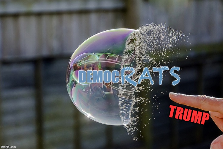 RATS; DEMOC; TRUMP | image tagged in memes,democrats,bubbles | made w/ Imgflip meme maker