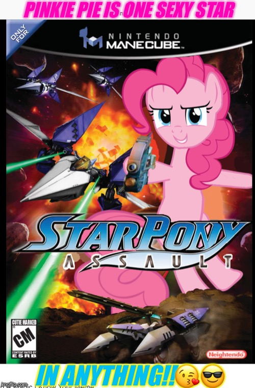 BEAUTIFUL!!!!!!!!! | PINKIE PIE IS ONE SEXY STAR IN ANYTHING!!?? | image tagged in beautiful | made w/ Imgflip meme maker