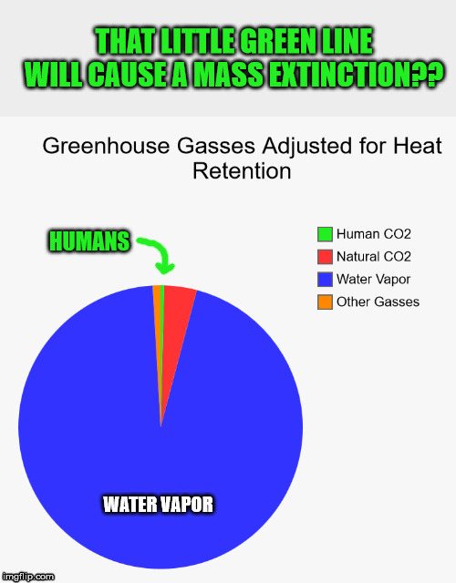 Humans getting way too much credit | THAT LITTLE GREEN LINE WILL CAUSE A MASS EXTINCTION?? | image tagged in climate change,global warming,carbon footprint,hysteria,maga | made w/ Imgflip meme maker