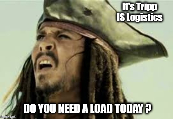 It's Tripp IS Logistics; DO YOU NEED A LOAD TODAY ? | image tagged in tripp jack,pirate | made w/ Imgflip meme maker