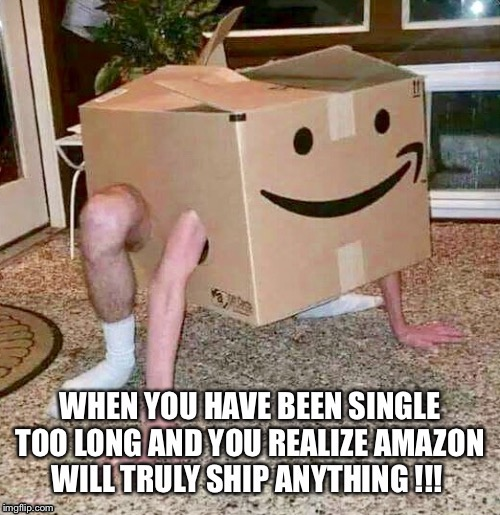 Man in a box | image tagged in amazon,box,man,business | made w/ Imgflip meme maker
