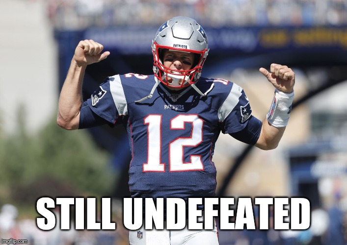 Undefeated Patriots | STILL UNDEFEATED | image tagged in new england patriots | made w/ Imgflip meme maker