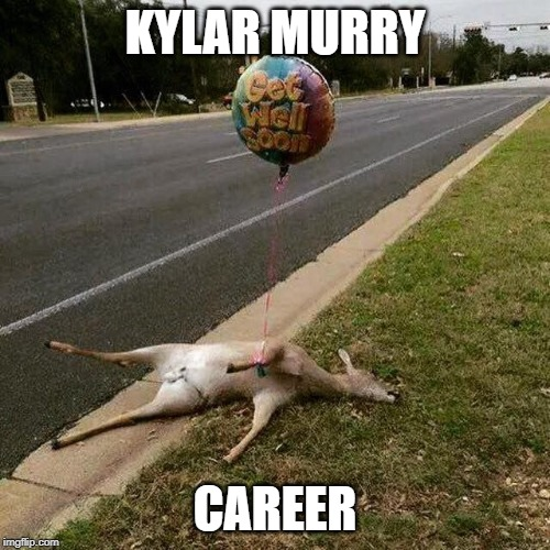Get Well Soon |  KYLAR MURRY; CAREER | image tagged in get well soon | made w/ Imgflip meme maker