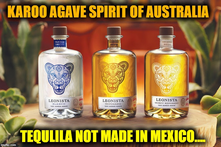 "Only Mexico can call their spirits distilled from Agave Cactus ""Tequila"" 