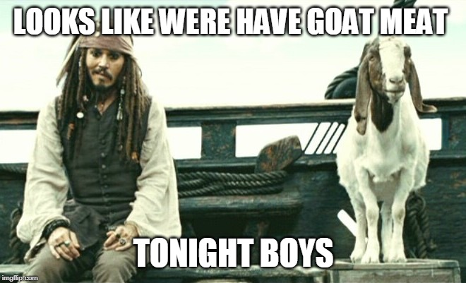BUCS VS RAMS | LOOKS LIKE WERE HAVE GOAT MEAT TONIGHT BOYS | image tagged in tampa bay,rams,nfl memes | made w/ Imgflip meme maker