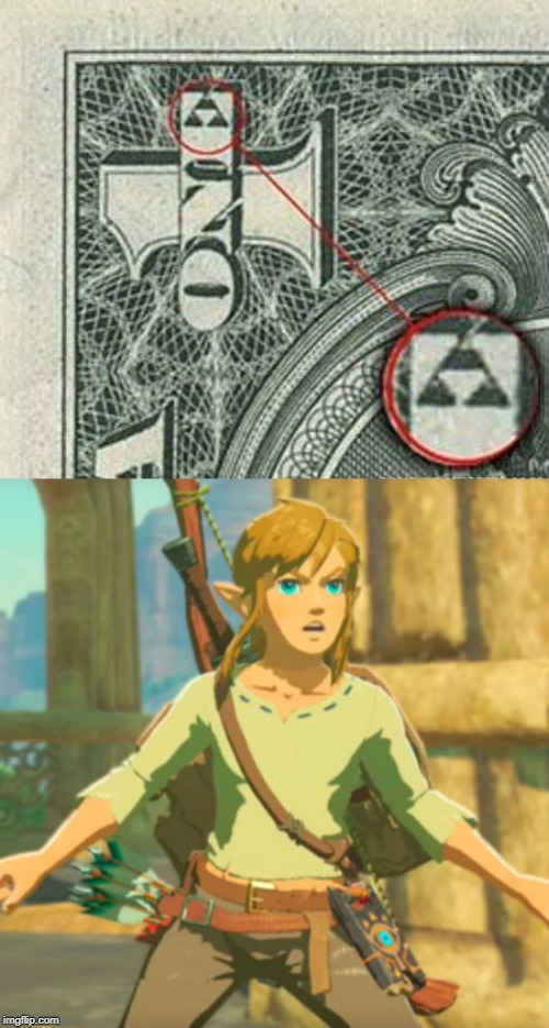 THE TRIFORCE! | image tagged in triforce,legend of zelda,link | made w/ Imgflip meme maker