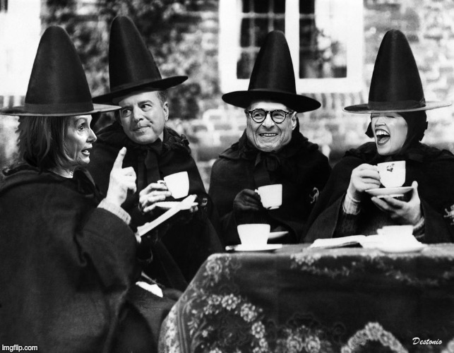 Witch Hunt | image tagged in trump,impeachment,witch hunt,halloween,congress | made w/ Imgflip meme maker