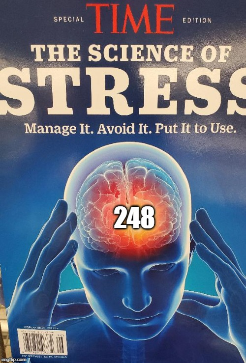 CSM cause of stress | 248 | image tagged in time stress magazine,248,csm,brain,human,mind blown | made w/ Imgflip meme maker