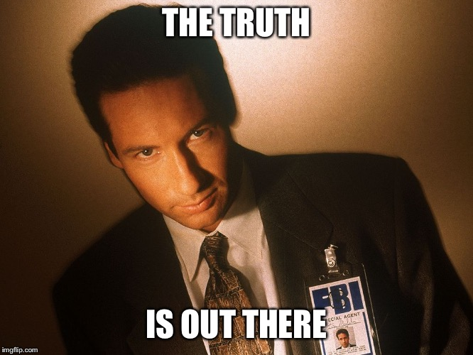 fox mulder  | THE TRUTH IS OUT THERE | image tagged in fox mulder | made w/ Imgflip meme maker