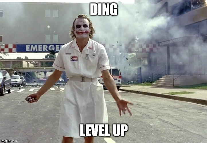 DING LEVEL UP | made w/ Imgflip meme maker