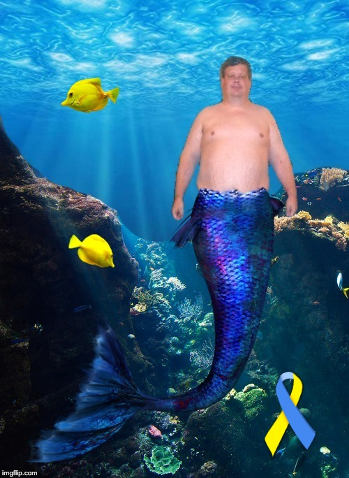 Down syndrome awareness | image tagged in mermaid,merman,down synddrome,down syndrome awareness,down syndrome mermaid,down syndrome merman | made w/ Imgflip meme maker