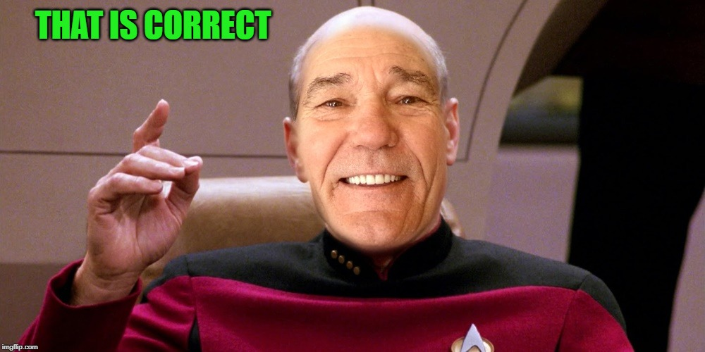kewlew as patrick stewart | THAT IS CORRECT | image tagged in kewlew as patrick stewart | made w/ Imgflip meme maker