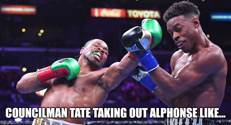 COUNCILMAN TATE TAKING OUT ALPHONSE LIKE... | image tagged in power,ghost | made w/ Imgflip meme maker