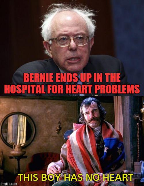 Image Tagged In Bernie Sanders Heartless Imgflip