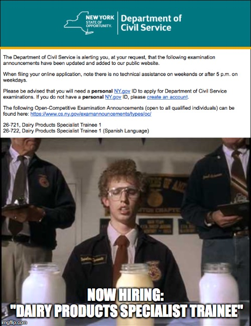 "Now Hiring: Dairy Products Specialist Trainee | NOW HIRING: ""DAIRY PRODUCTS SPECIALIST TRAINEE"" 