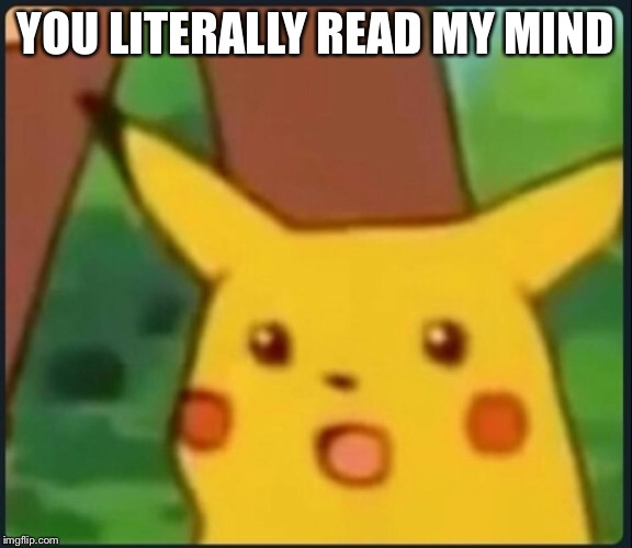 Surprised Pikachu | YOU LITERALLY READ MY MIND | image tagged in surprised pikachu | made w/ Imgflip meme maker