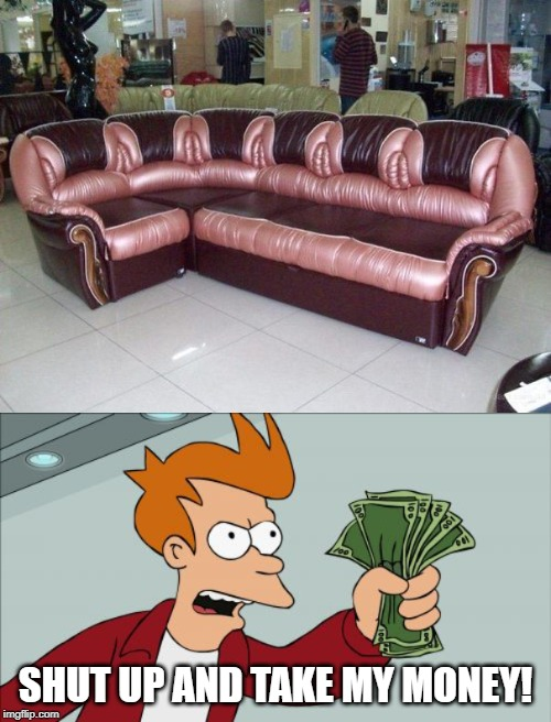 "This manufacturer just unveiled a ""love seat"" built for 5...men. 