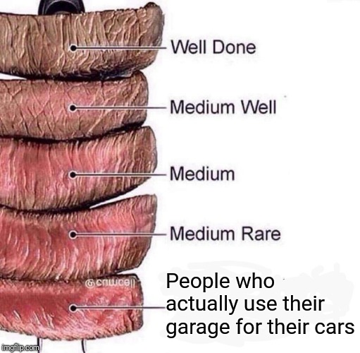 W222 People who actually use their garage for their cars | image tagged in really rare | made w/ Imgflip meme maker