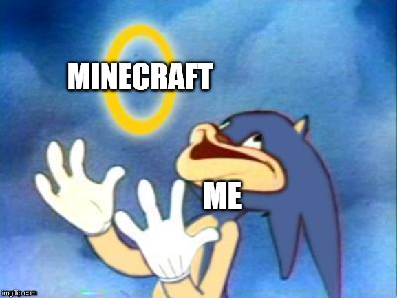 Sanic | ME MINECRAFT | image tagged in sanic | made w/ Imgflip meme maker
