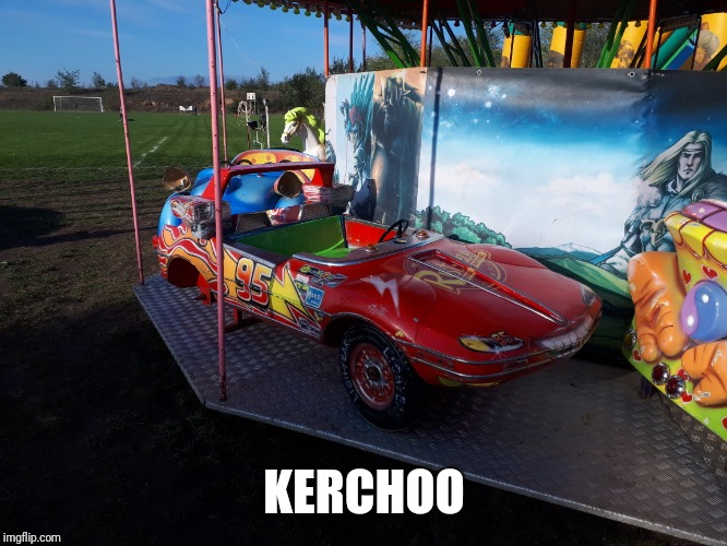 Meanwhile in Romania | KERCHOO | image tagged in lightning mcqueen,meanwhile in romania,playground,football field | made w/ Imgflip meme maker