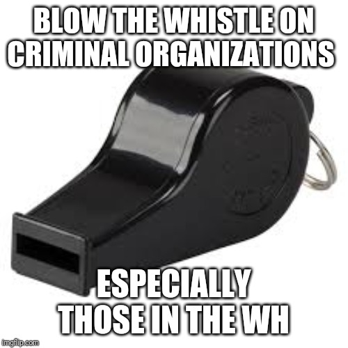 Drumpf Impeachment | BLOW THE WHISTLE ON CRIMINAL ORGANIZATIONS ESPECIALLY THOSE IN THE WH | image tagged in memes,creepy condescending wonka,impeach trump | made w/ Imgflip meme maker