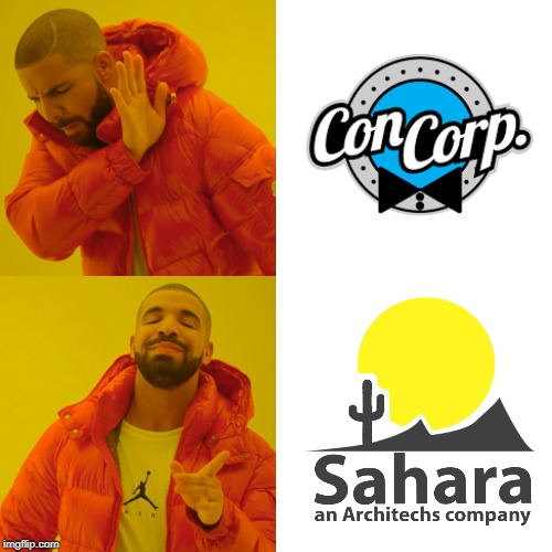 #ShopAtSahara | image tagged in memes,drake hotline bling,old meme,minecraft,hermitcraft 6 | made w/ Imgflip meme maker