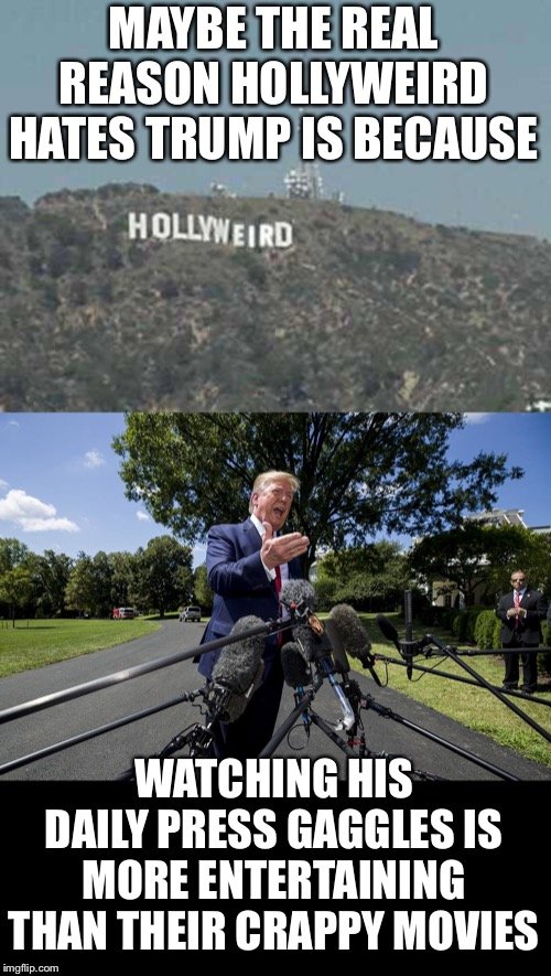 "Sometimes you just gotta sit back and enjoy the Trump show.  We're living in the ""good old days"" right now.  Enjoy it folks! 
