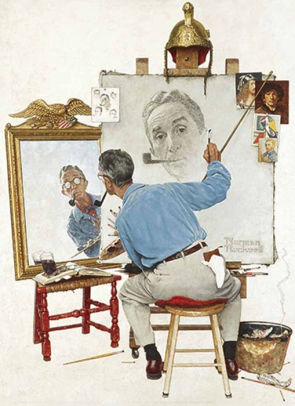 Norman Rockwell Self Portrait Blank Template Imgflip