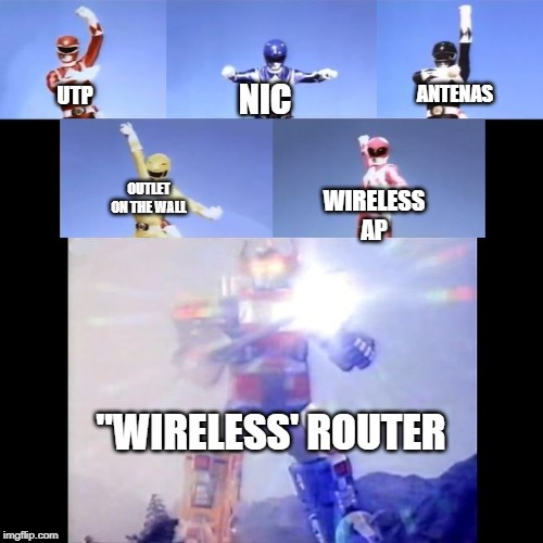 "Power Rangers | UTP OUTLET ON THE WALL NIC WIRELESS AP ANTENAS ""WIRELESS' ROUTER 