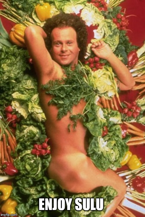 Richard Simmons | ENJOY SULU | image tagged in richard simmons | made w/ Imgflip meme maker