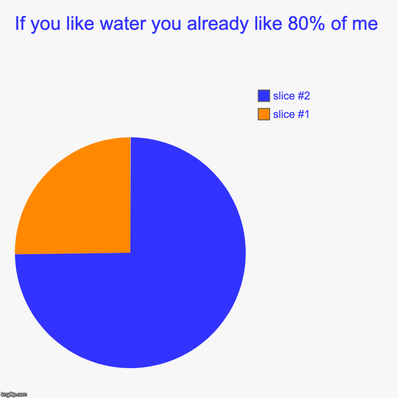 If you like water you already like 80% of me | | image tagged in charts,pie charts | made w/ Imgflip chart maker