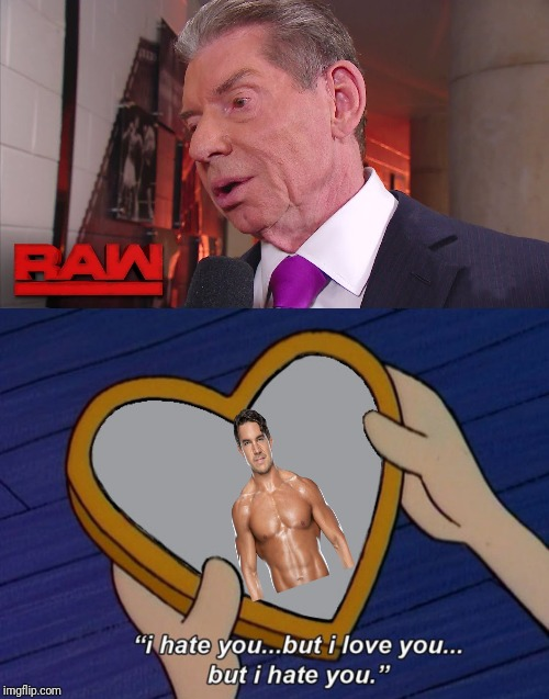 Vinny loves Shorty! | image tagged in wwe,vince mcmahon,chad gable,hey arnold | made w/ Imgflip meme maker