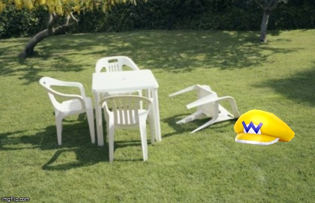 Wario dies from a simple chair knockover.mpg | image tagged in memes,we will rebuild,wario | made w/ Imgflip meme maker